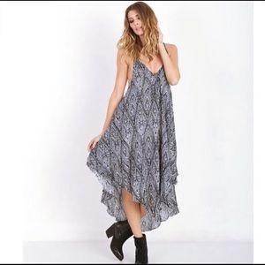 Free People tribal print oversized maxi dress med